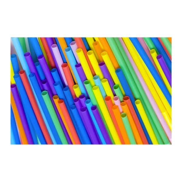 Frozen pipet 23,5 cm uzunluğunda, 100 adetli pakette ve düz muhtelif renklerdedir.