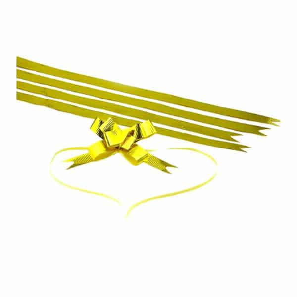 Parlak altın renk şerit kurdele orta boy, 100 adetli pakette