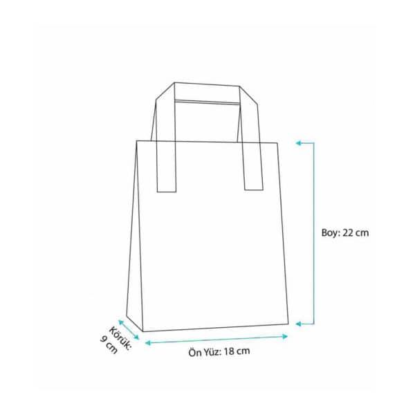 _0016_Dıştan kulplu pembe renk 18x9x22 cm kağıt çanta 50 adetli veya 500 adetli paketlerde