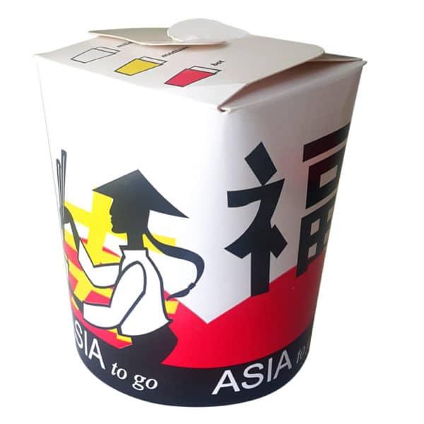 16 Oz döner box yükseklik 10 cm, ağız kısmı 7×8,5 cm, taban 8 cm, 50 adetli pakette, ürün asya mutfağı görselindedir. Gıdaya uygun materyalden üretilmiştir.
