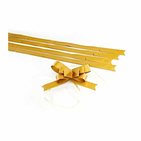 Mat altın renk şerit kurdele küçük boy, 50 adetli pakette