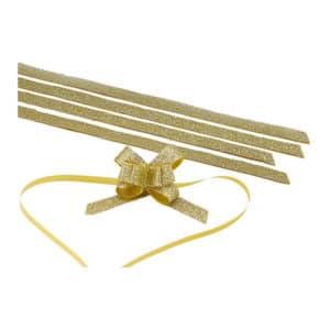 Altın renk simli kurdele büyük boy, 100 adetli pakette