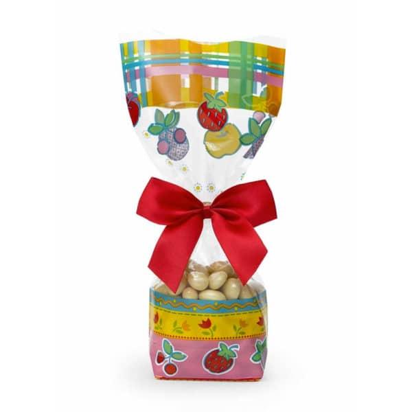 _0022_Şekerleme ve meyve temalı şeffaf poşet küçük boy, 100 adetli paketlerde