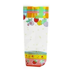 Şekerleme ve meyve temalı şeffaf poşet küçük boy, 100 adetli paketlerde