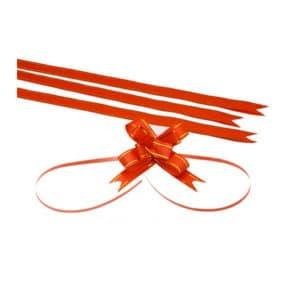 Altın şerit kırmızı renk kurdele orta boy, 50 adetli pakette