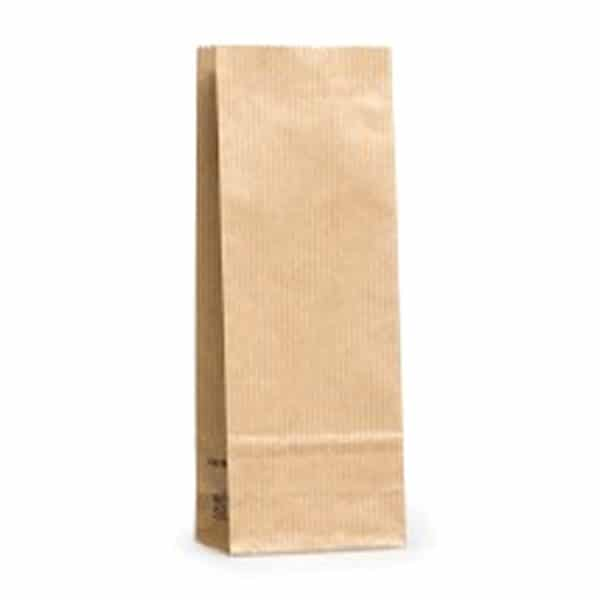 Kraft renkte çizgili 100 gr'lık kahve poşeti, 1350 adetli pakette
