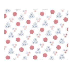 Ambalaj kağıdı 70x100 cm ebatta, 10 kg'lık pakette, ürün mavi beyaz çiçek desenli görseldedir.