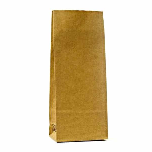 Kraft renkte çizgisiz 500 gr'lık kakao poşeti, 1000 adetli pakette
