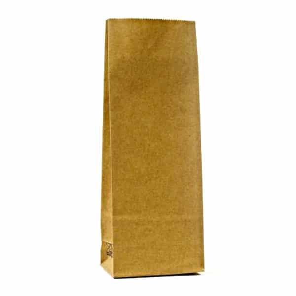 Kraft renkte çizgisiz 250 gr'lık kakao poşeti, 1200 adetli pakette
