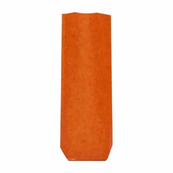 Naturel turuncu renk pencereli şeffaf pastane poşeti küçük boy, 100 adetli pakette
