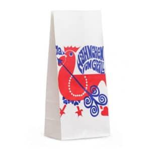 Standart tavuk görselli beyaz renk 12,5x8x27,5 cm büyük boy, 1000 adetli pakette