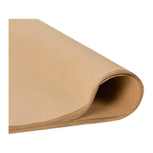 Ambalaj paketleme kağıdı kraft 41×57 cm ebatta, 10 kg'lık pakette, ürün 60 gr m2 kraft kağıttan üretilmiştir ve baskısız düz kraft renktedir.
