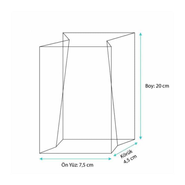 Metalize hediyelik şeffaf poşet küçük boy, 100 adetli veya 500 adetli paketlerde