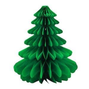 Yılbaşı Ağaçları El Yapımı Yeşil Petek Süs 1 Adet