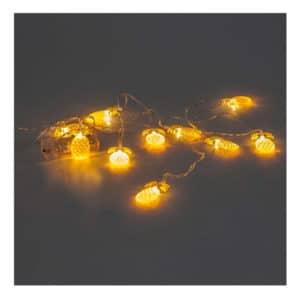 Ananas Şekilli Pilli Led Işık 10 Lamba 2m 1 Adet