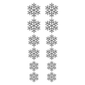 Gümüş Kar Tanesi Sticker Set 12li