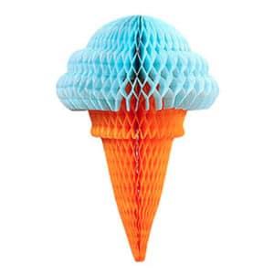 Mavi Külah Dondurma Küçük Petek Süs 1 Adet