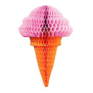 Pembe Külah Dondurma Küçük Petek Süs 1 Adet