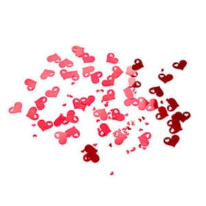 Delikli Kırmızı Kalp Masa Konfeti 15gr