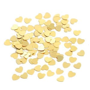 Altın Kalp Masa Konfeti 15gr