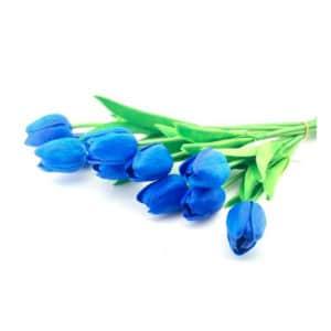 Yapay Çiçek Lale Lacivert 30cm 1 Adet