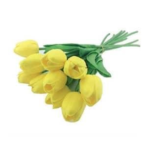 Yapay Çiçek Lale Sarı 30cm