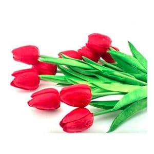 Yapay Çiçek Lale Kırmızı 30cm 1 Adet