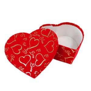 I love You Hediye Kırmızı Kalp Kutu Küçük Boy 1 Adet