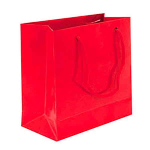 Kırmızı Minik Hediyelik Karton Çanta 11cm x 11cm 10lu