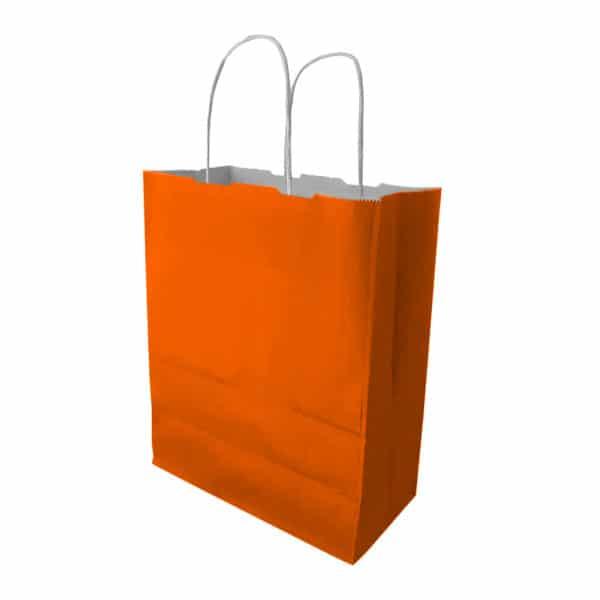 turuncu burgu saplı kağıt çanta