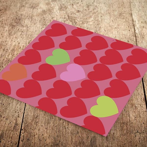 I Love You Kalpler Kağıt Peçete 33x33cm 20li