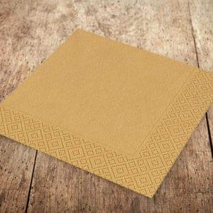 Altın Renk Kağıt Peçete 33 x 33cm 20li