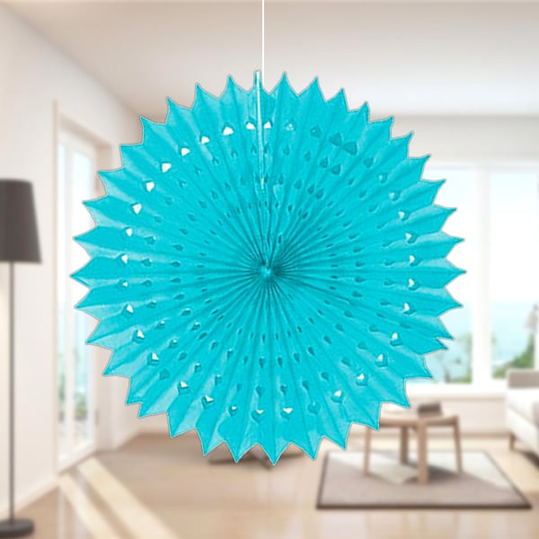 Açık Mavi Yelpaze Süs 50cm 1 Adet