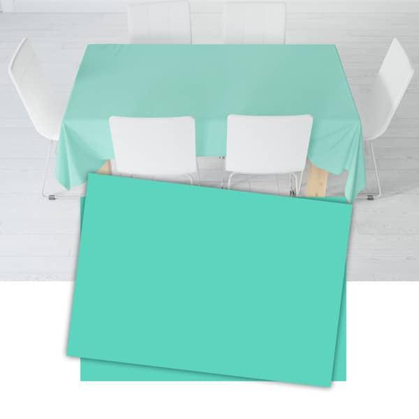 Turkuaz Renk Plastik Masa Örtüsü 120 x 180cm 1 Adet