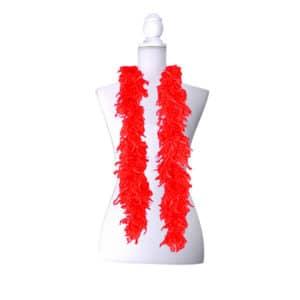 Kırmızı Renk Kalın Kaz Tüyü Otriş 2m 1 Adet