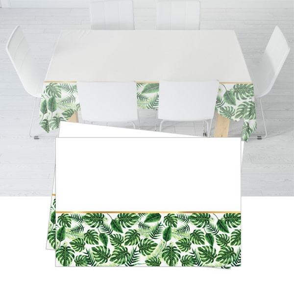 Tropikal Temalı Plastik Masa Örtüsü 120x180cm 1Ad