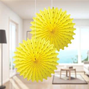 Sarı Renk Yelpaze Süs 50cm 2li