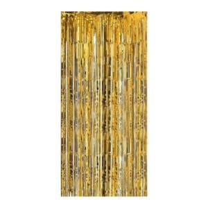 Altın Renk Metalize Kapı Perdesi 1 Adet