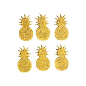 Simli Ananas süs 4cm 6lı