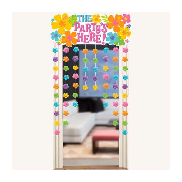 Kapı Perde Süsü Çiçekli