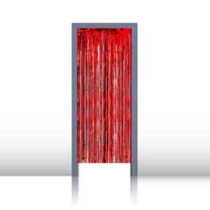 Kapı Perdesi Hologramlı Kırmızı 1m x 2m 1 Adet