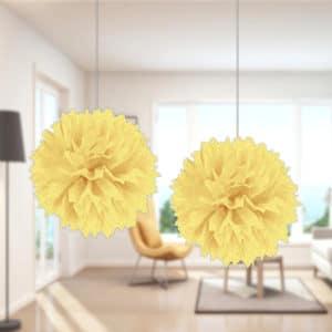 Ponpon Süs Sarı Renk 2li