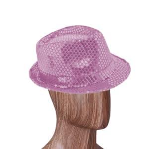 Lila Renk Payetli Fötr Şapka 1 Adet