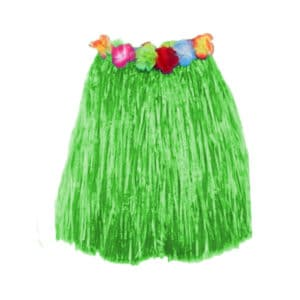 Yeşil Renk Hula Etek 40cm 1 Adet