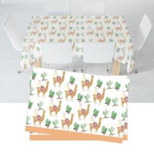 Lama Temalı Plastik Masa Örtüsü 120 x 180cm 1 Adet