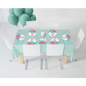 Flamingo Temalı Partisi Seti 16 Kişilik 113 Parça