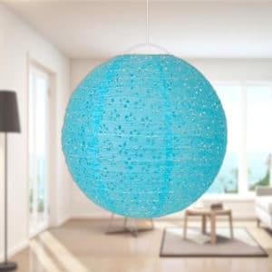 Mavi Renk Dantelli Fener 30cm 1 Adet
