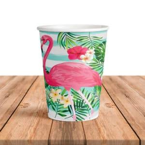 Flamingo Temalı Karton Bardak 200cc-8oz 8li