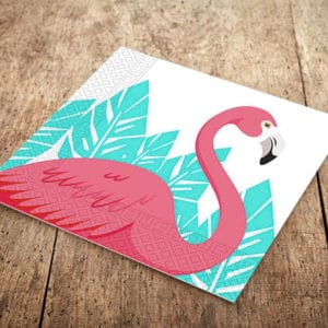 Flamingo Temalı Kağıt Peçete 33x33cm 20li