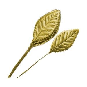 Altın Yaprak Dalı 2,5cm x 5,5cm 12li